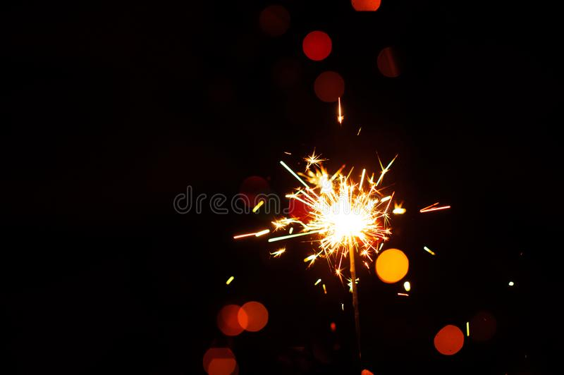 christmas sparklers stock images