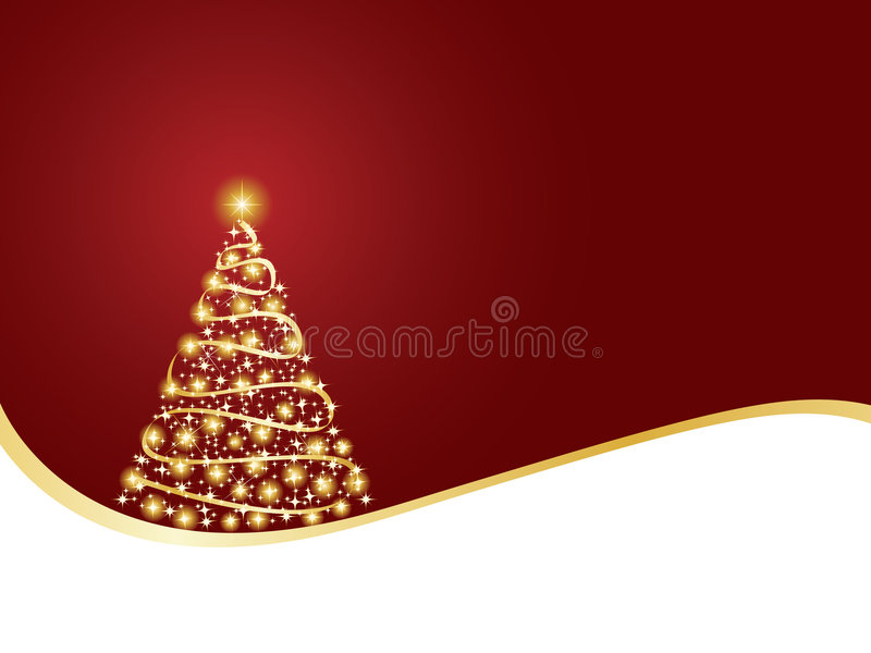 christmas sparkling tree διανυσματική απεικόνιση