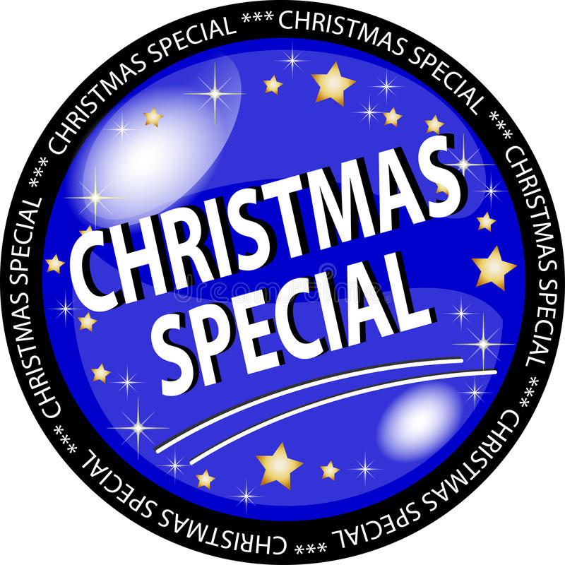 Christmas Special Button Stock Photography