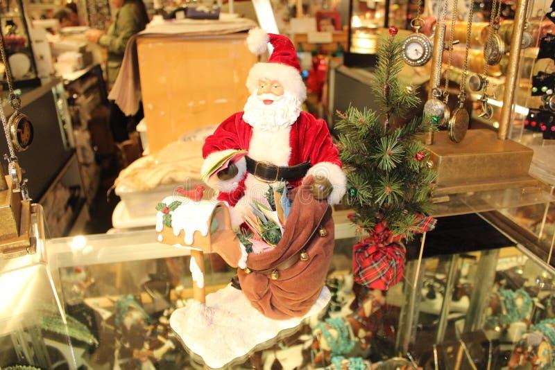 Christmas specialty store Santa Claus. Holiday specialty store with all seasonal Christmas decorations royalty free stock photo