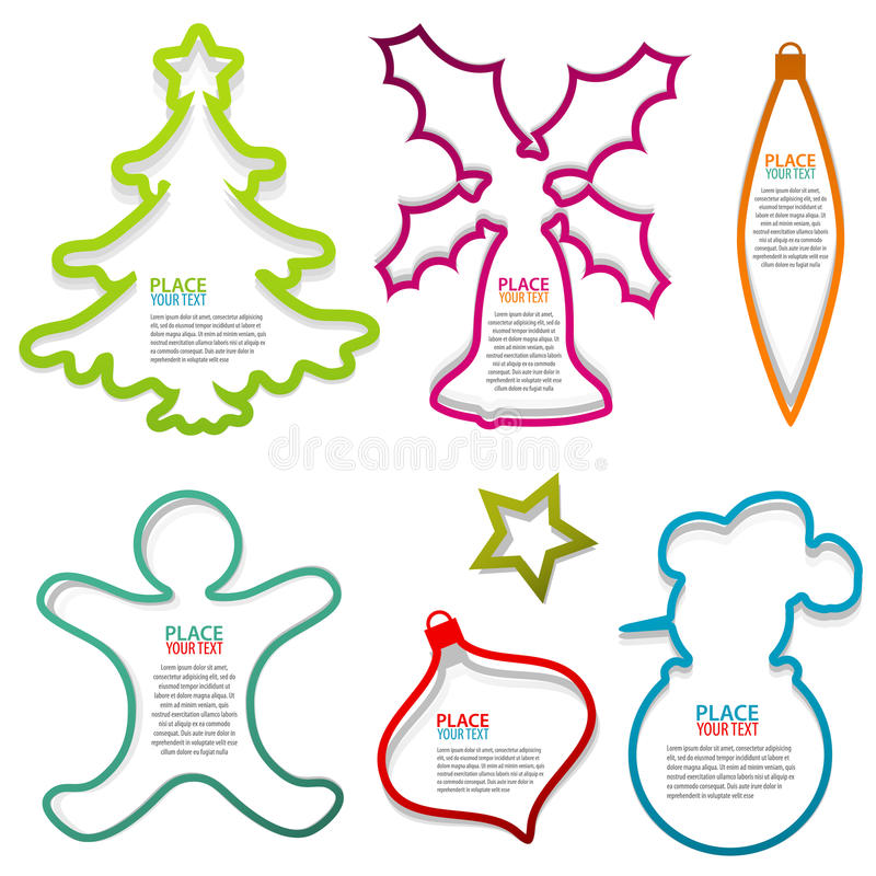 Christmas Speech Bubbles Stock Images