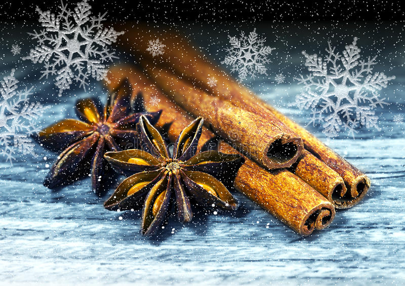 Christmas spicery stock image