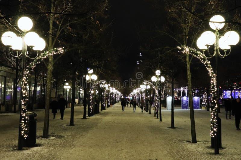 Christmas spirit in Kungsträdgården in Stockholm stock image