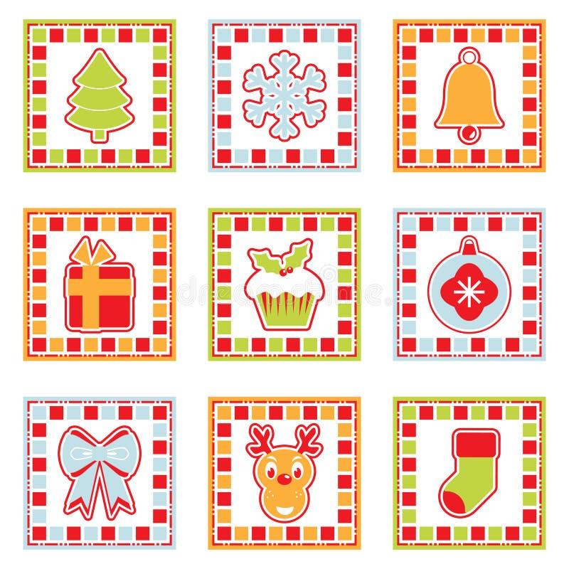 Christmas squares stock illustration
