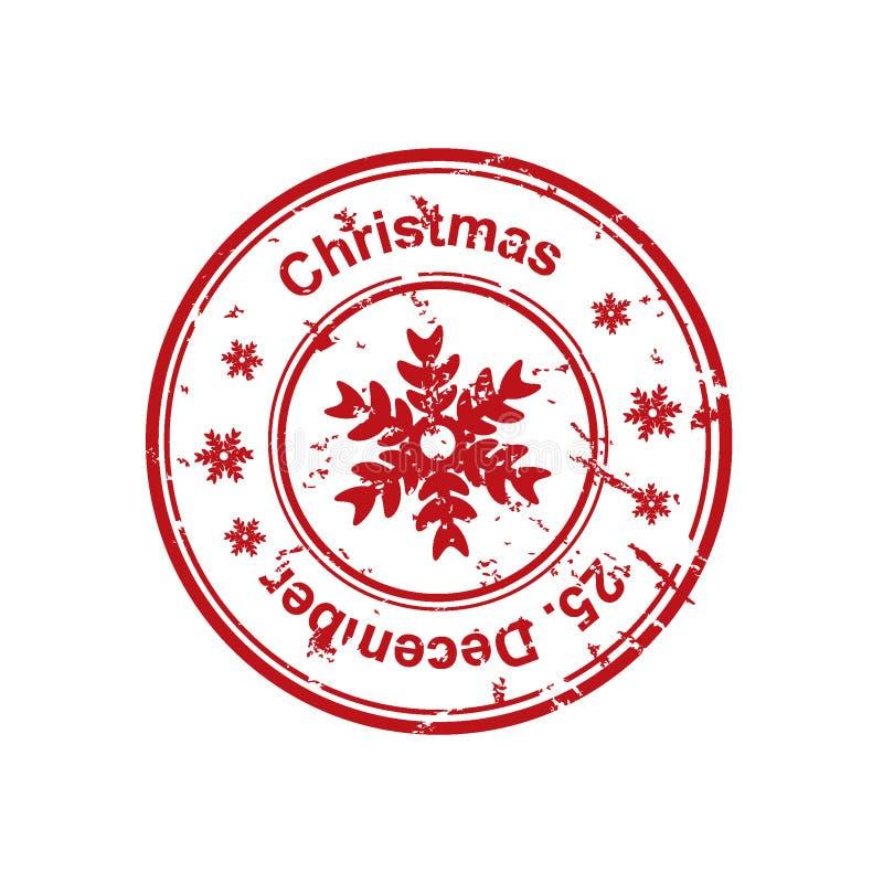 Christmas stamp stock illustration