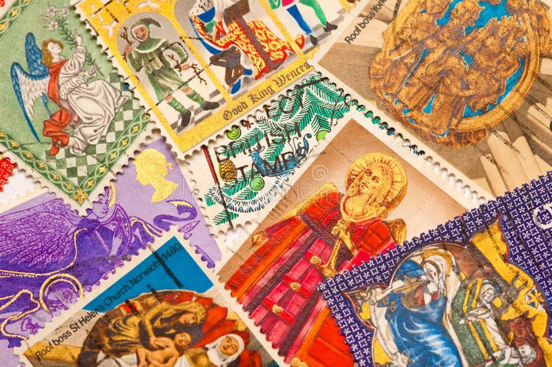 Download Christmas stamps stock photo. Image of stamps, angel - 12545444