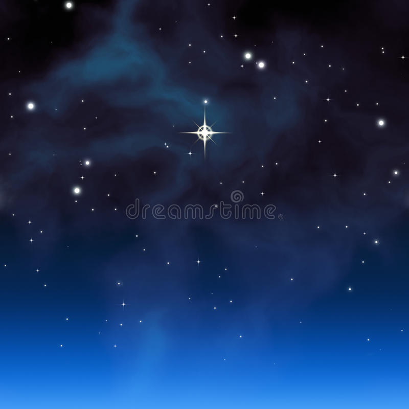 Christmas star stock illustration