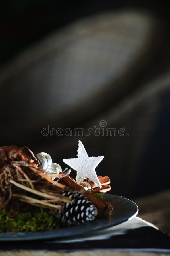 Download Christmas star stock image. Image of arrangement, plate - 22298557