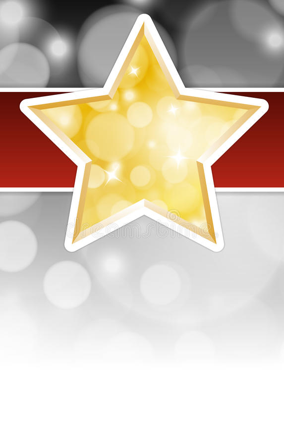 Download Christmas Star Card With Place For Text Stock Vector - Image: 39920552