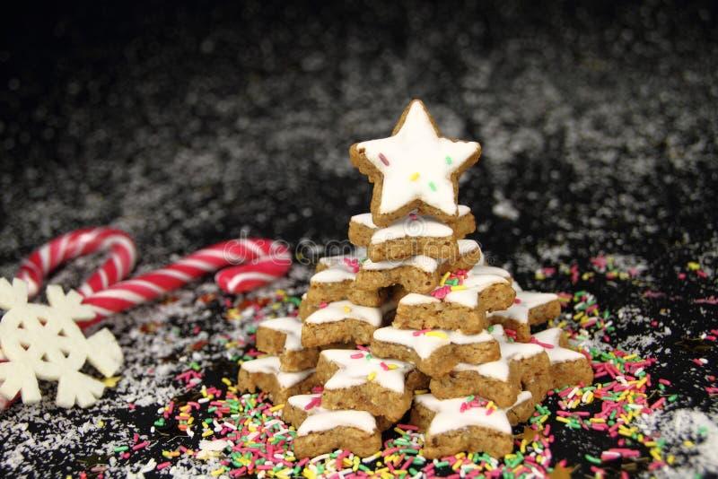 Christmas star cookies tree