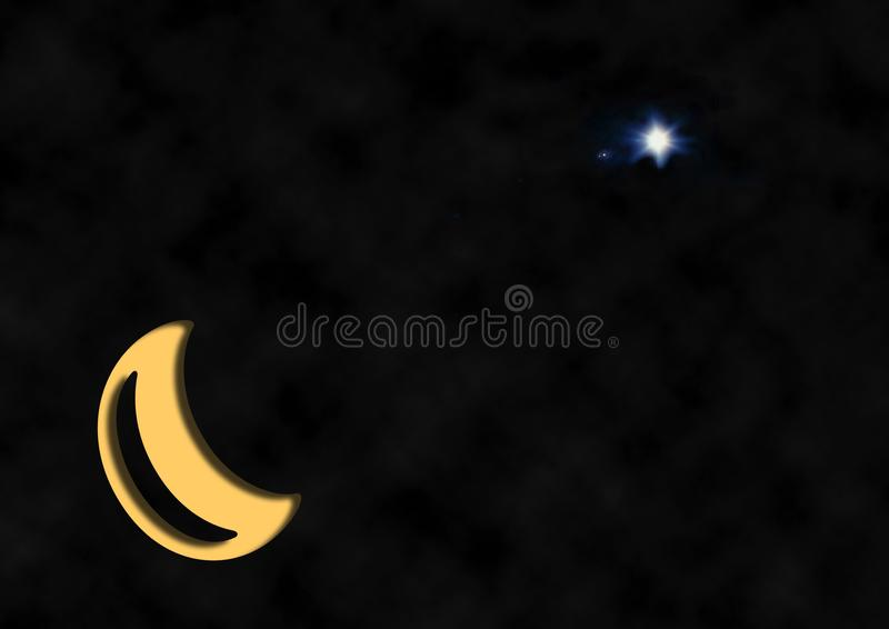 Christmas Star Crescent Moon Free Stock Photos