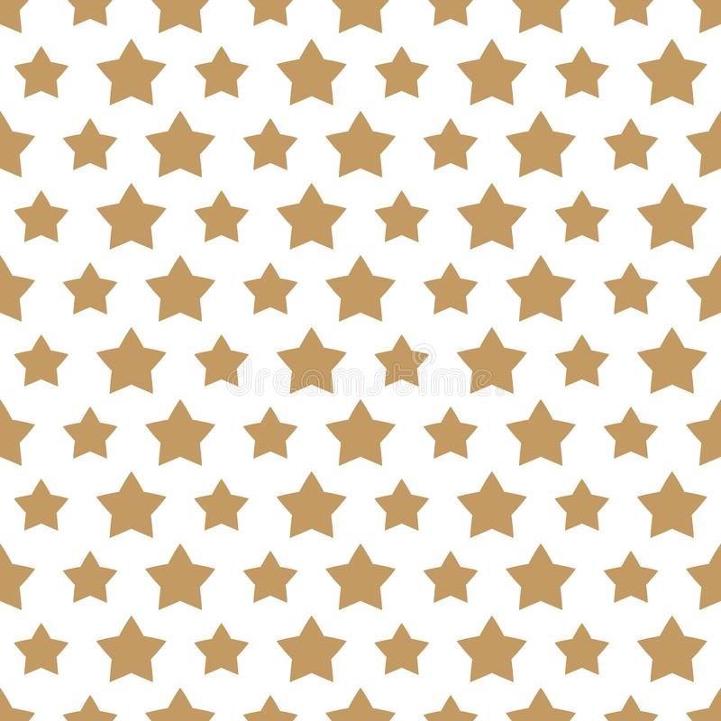 Christmas star gold style seamless pattern on white background royalty free illustration