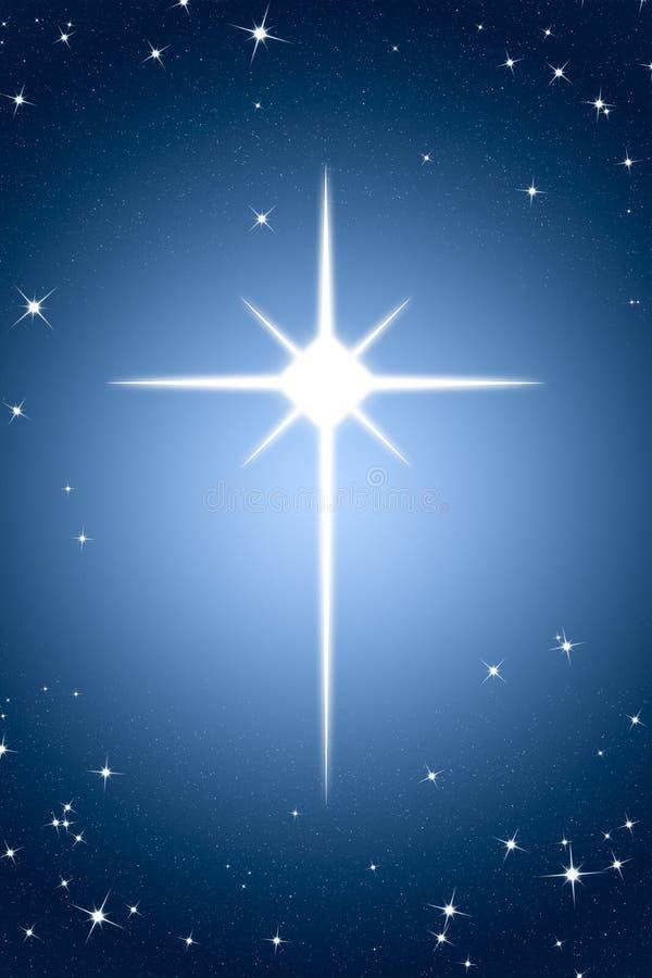 Christmas Star On Gradient Background Stock Illustration ...