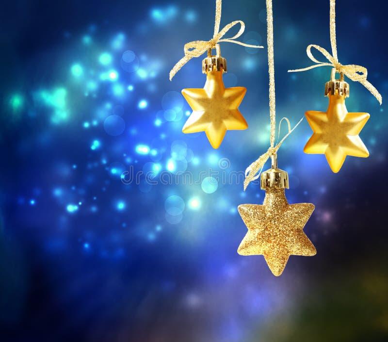 Christmas star ornaments stock photo