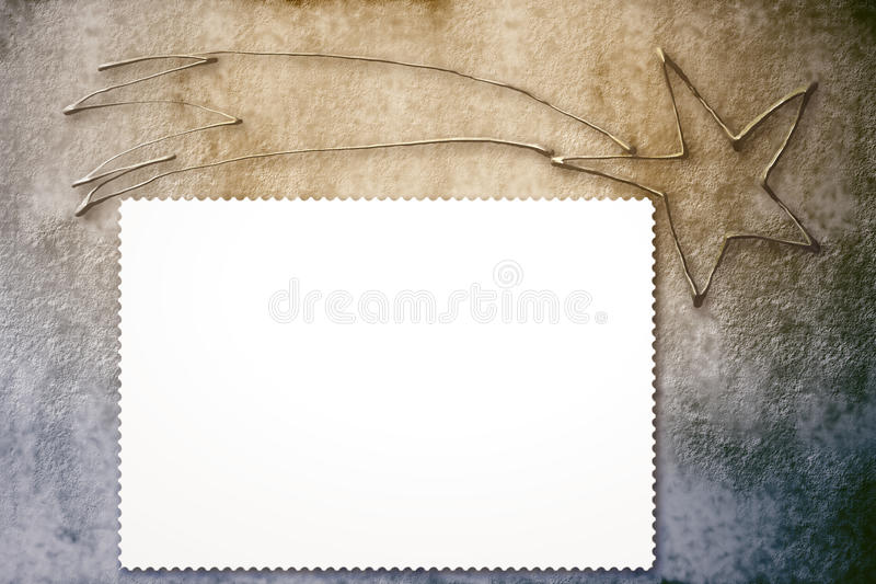 Download Christmas Star Rustic Background With Copy Space Stock Illustration - Image: 22373334
