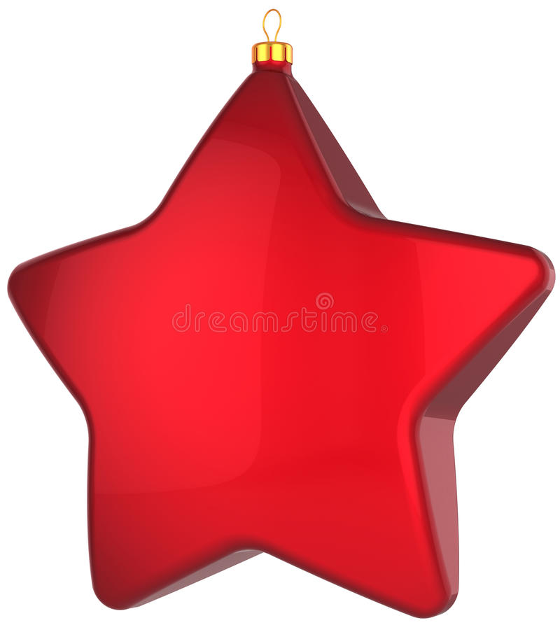Download Christmas Star Shape Bauble Total Red Stock Illustration - Image: 17258549