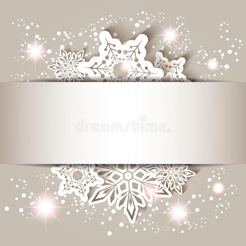 Christmas Star Snowflake Greeting Card vector illustration