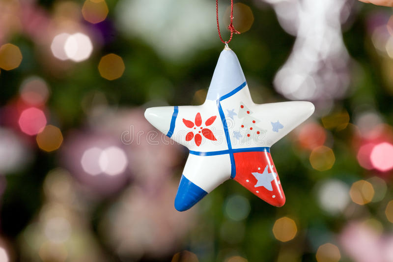 Download Christmas Star With Tree On Background Stock Photo - Image: 11825956