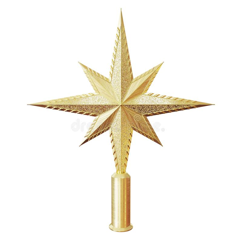Free Christmas Star Tree Topper Royalty Free Stock Images - 104981329