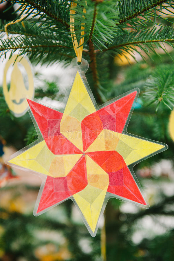 Download Christmas Star From Used Plastic Stock Photo - Image: 36104762