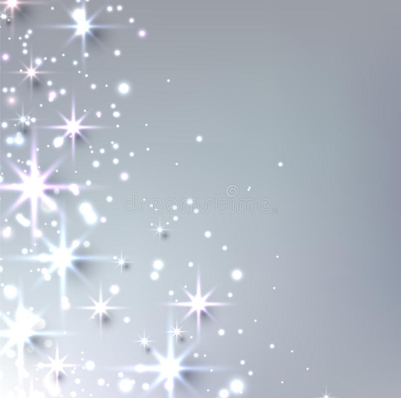 Christmas starry background with sparkles. stock illustration