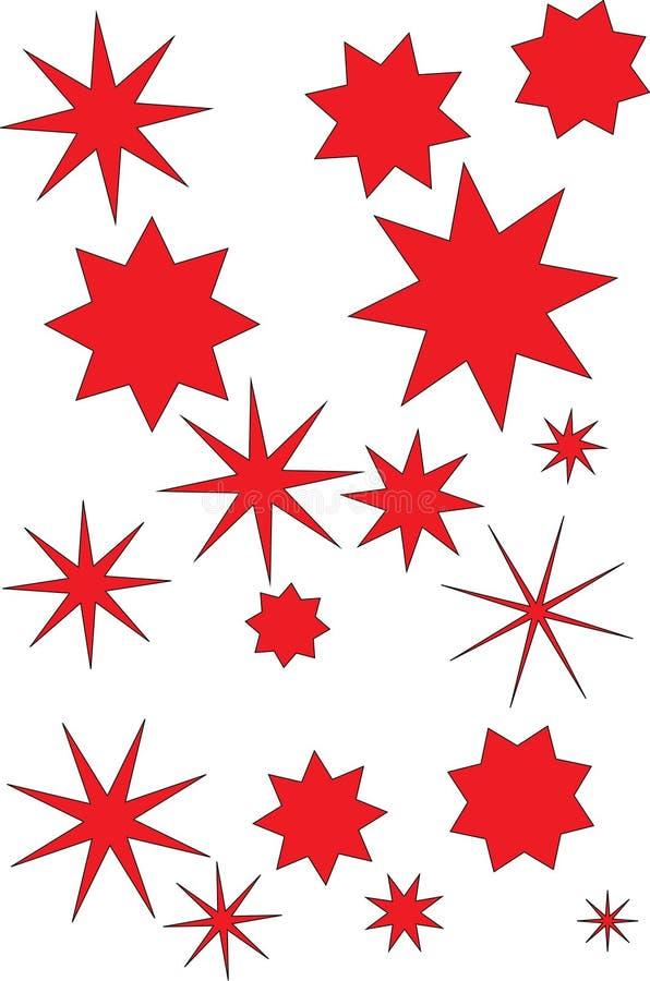 Christmas stars stock images