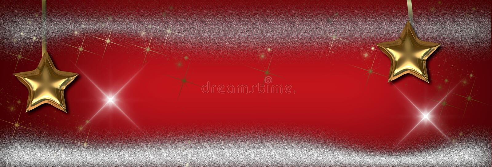 Christmas stars banner, background royalty free stock photos