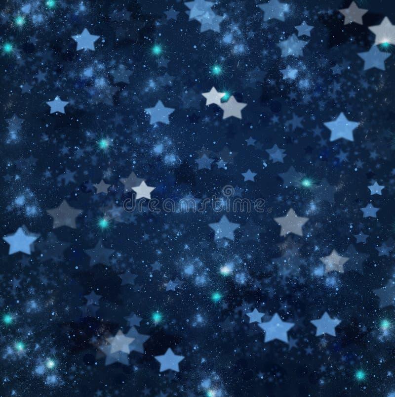 Christmas stars on blue background. Blue christmas and new years stars on blue background
