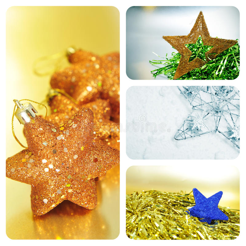 Download Christmas stars collage stock image. Image of decoration - 27537583