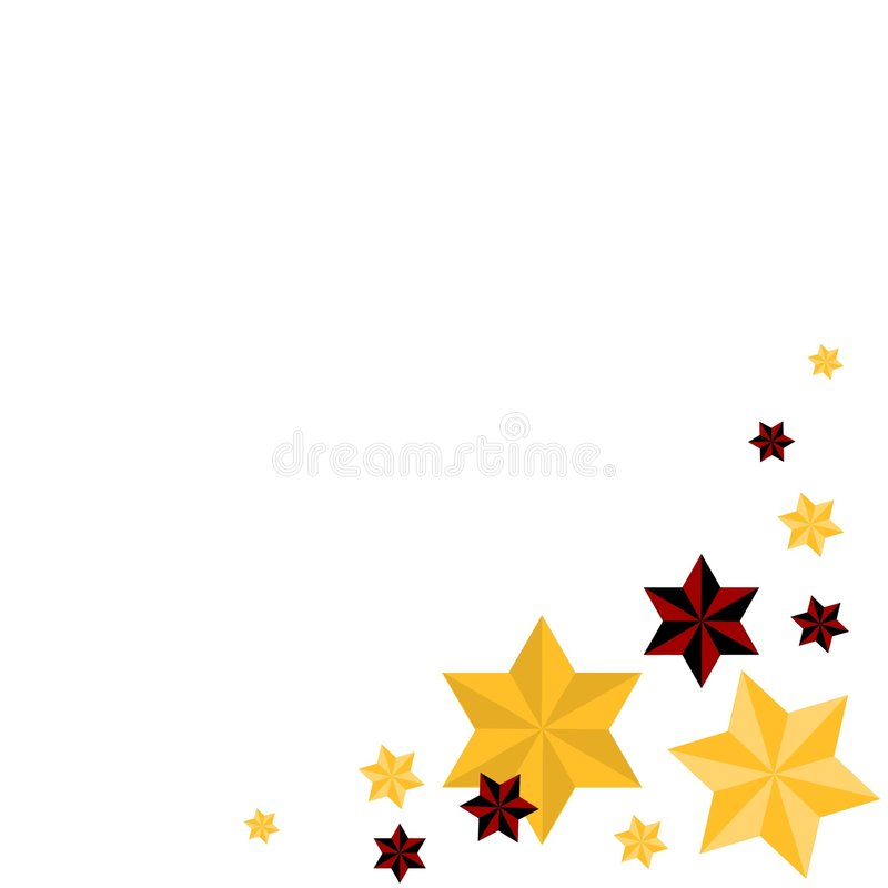 christmas stars in gold and red stock vector illustration of gold rh dreamstime com Gold Champagne Celebration Clip Art Gold Border Clip Art
