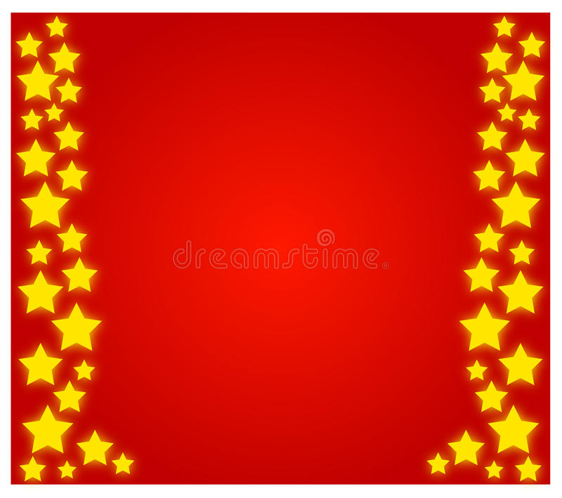 Christmas stars stock illustration