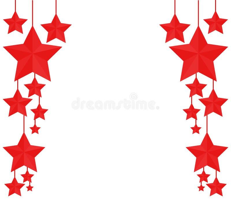 Christmas stars vector illustration