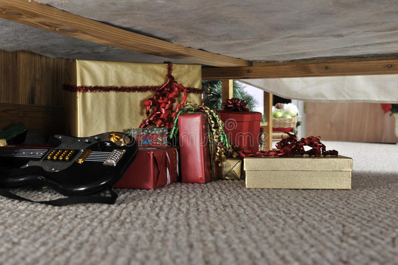 Download Christmas Stash stock photo. Image of under, wrapped - 22108510