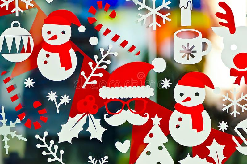 Christmas sticker decoration stock image