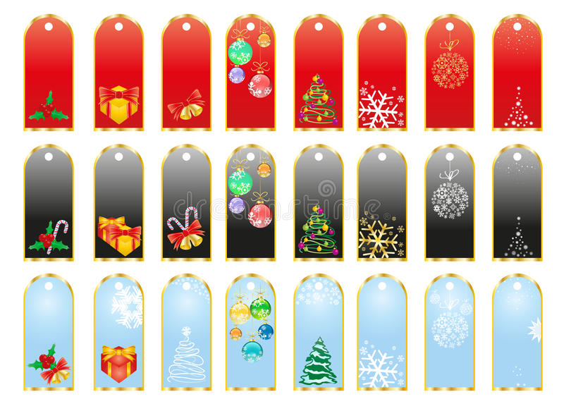 Download Christmas stickers stock illustration. Image of clip - 16761880