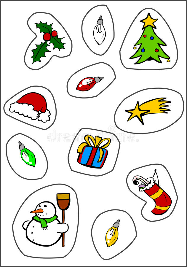 Download Christmas Stickers stock illustration. Image of color - 17008121