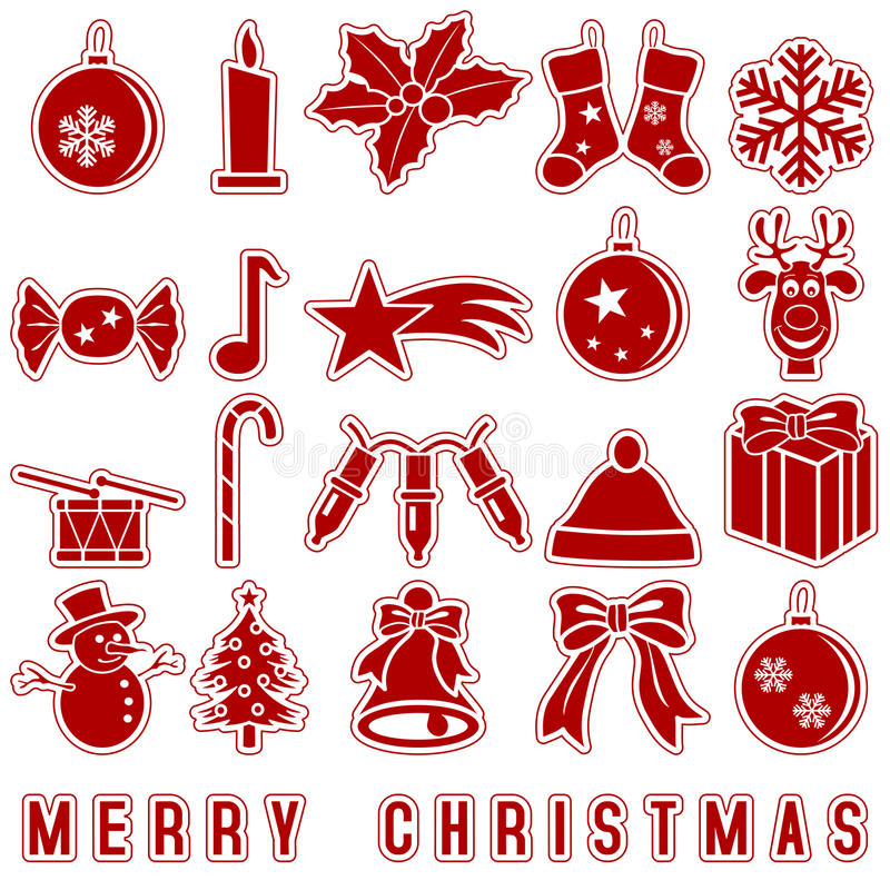 Christmas Stickers Icons royalty free illustration