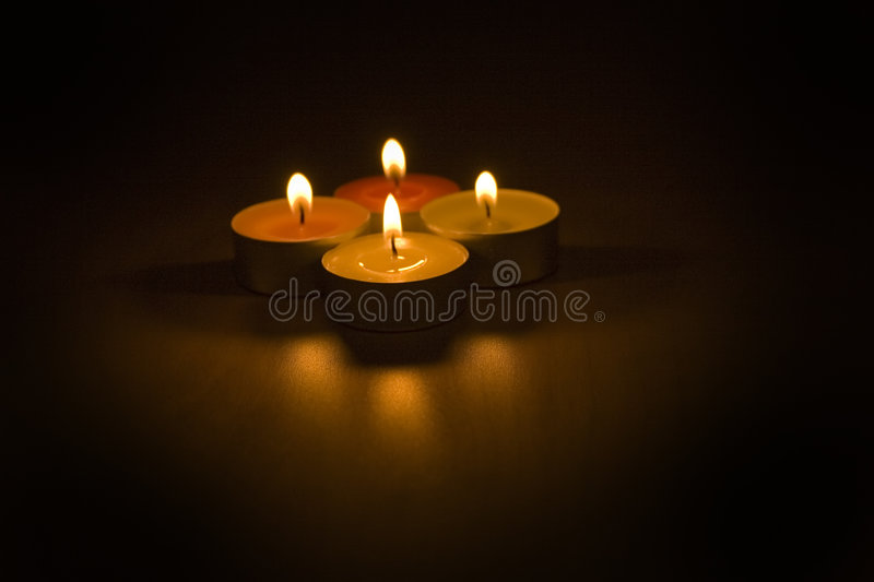 Christmas still life. With candles royalty free stock photography