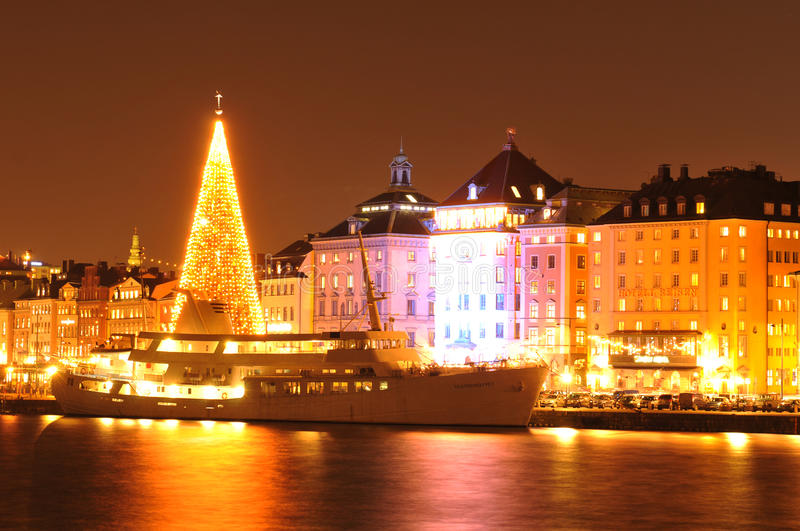 Christmas in Stockholm royalty free stock photos