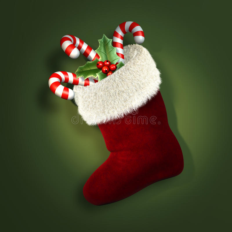 Download Christmas stocking stock illustration. Image of details - 11329084