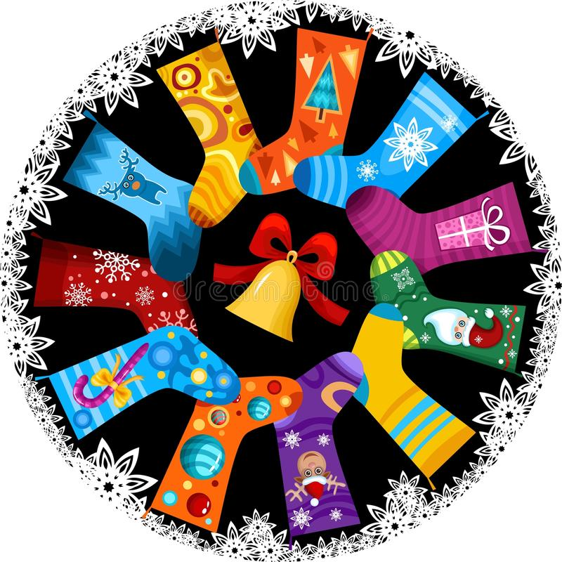 Download Christmas stocking stock vector. Image of night, design - 11949766