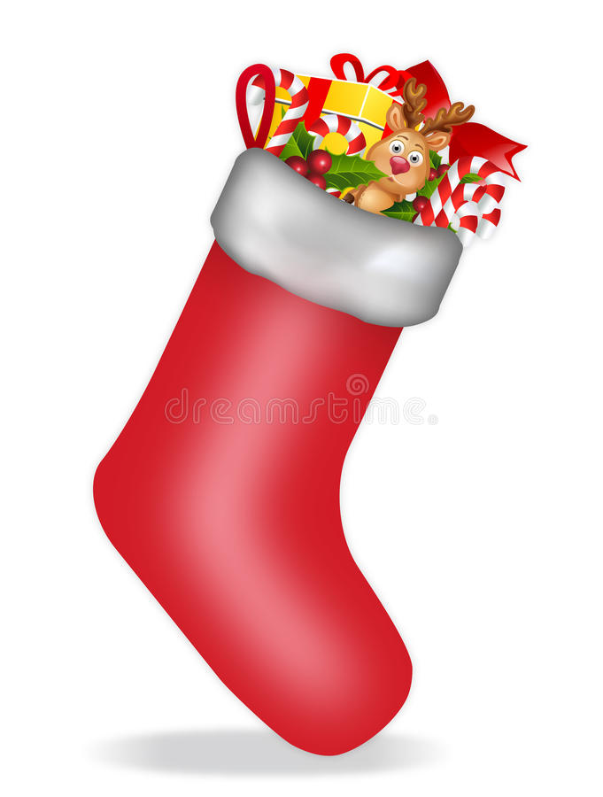 Download Christmas Stocking stock illustration. Illustration of christmas - 16432299
