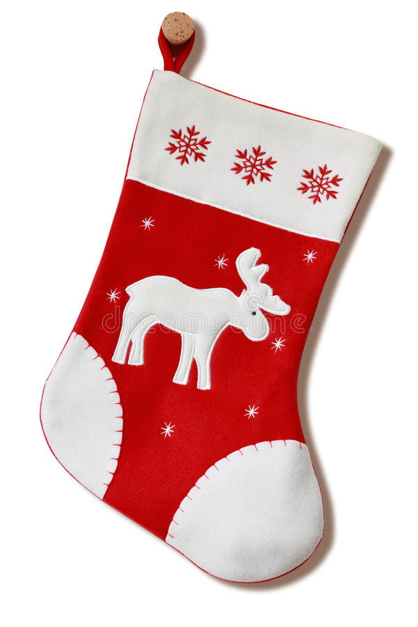 Download Christmas stocking. stock image. Image of vertical, white - 16740639