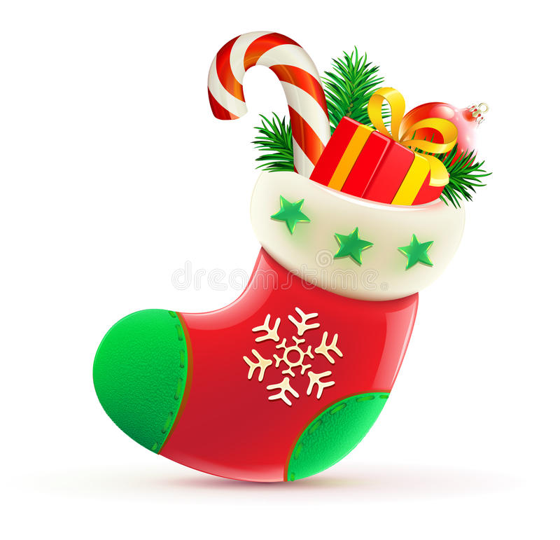 Download Christmas stocking stock vector. Illustration of happy - 21525704