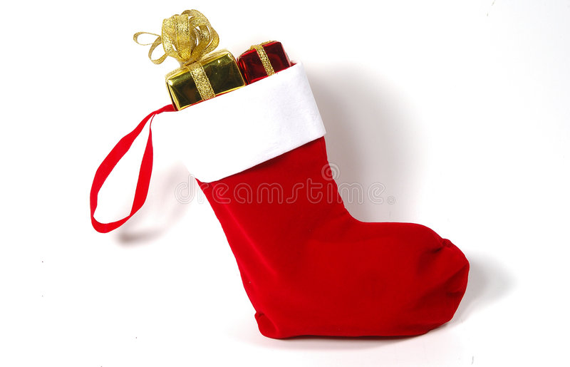 Christmas Stocking. Photo of a Christmas Stocking With Gifts