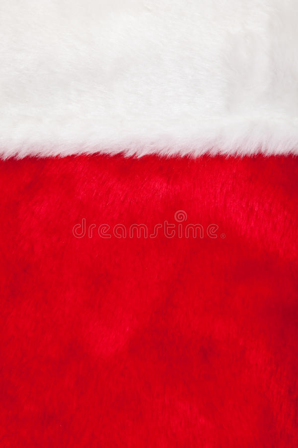 Christmas stocking as background stock image