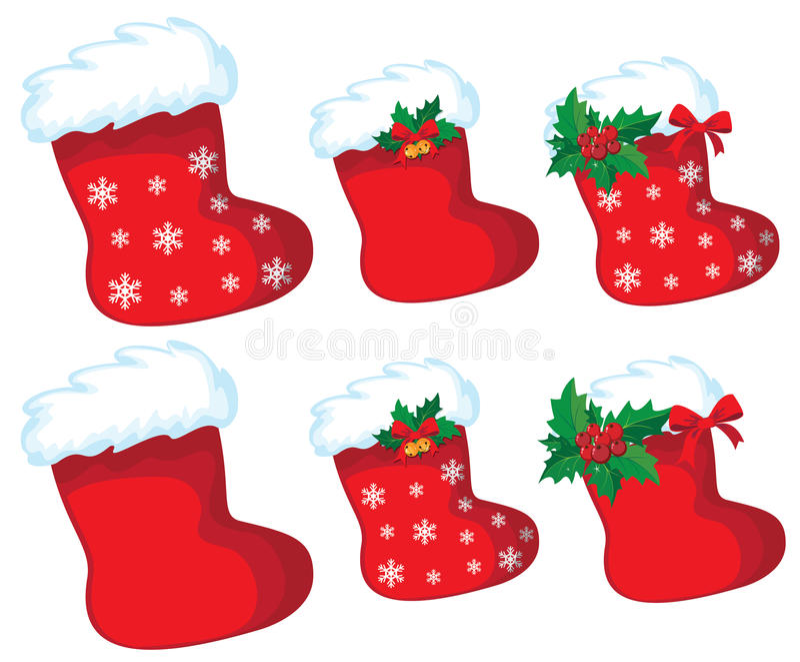 Download Christmas stocking set stock vector. Illustration of christmas - 22121521