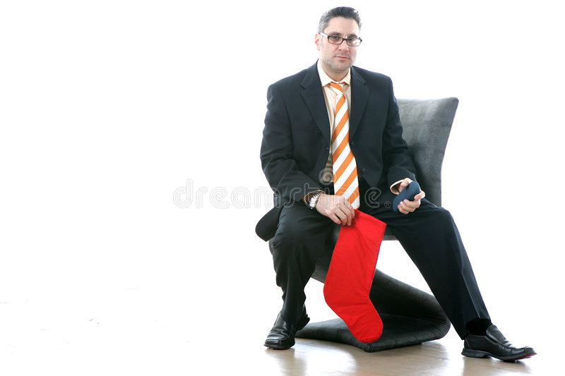 Download Christmas Stocking About To Be Stuffed Stock Image - Image: 49221