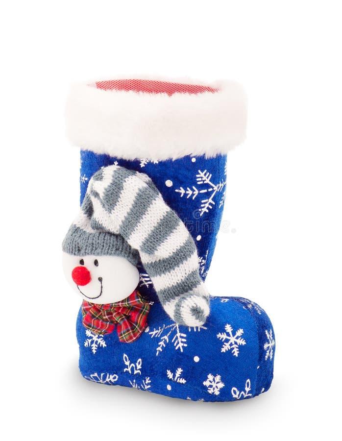 Christmas stocking on white background royalty free stock image
