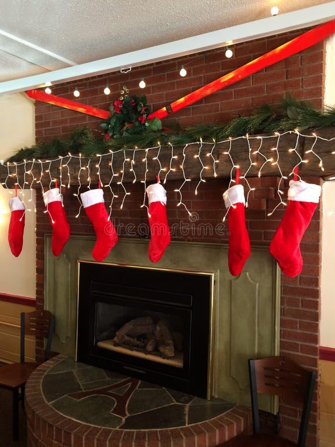 Christmas stockings stock photography